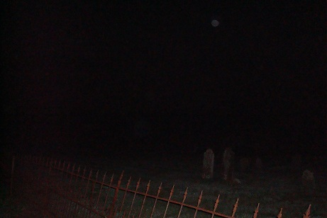 Union Cemetery at night